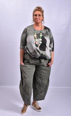 Broek, armygroen, Moonshine, ballonmodel, twee lagen stof op voorpand met zakken