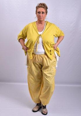 Broek, geel, Moonshine, ballonmodel met kleine zakken