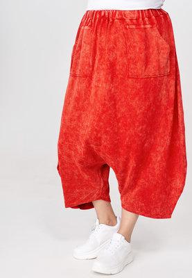 Zouavebroek Kekoo rood van gebreide stof