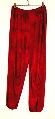 Thom B broek rode tie & day met zakken onder de knie
