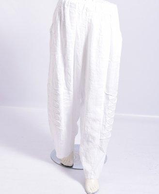 Broek, wit, Moonshine, ballonmodel met leuke details op voorkant
