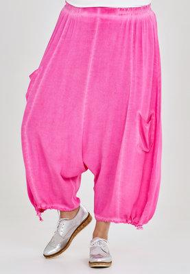 ,, Broek, zouave model, Kekoo,roze elastische taille, 7/8ste lengte