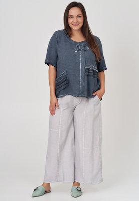 ,, Broek, vaal grijs, wijd model, Kekoo, elastische taille, steekzakken