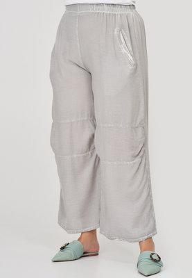 ..Broek, Kekoo, grijs, washed out, rekbare taille, twee steekzakken, doorgestikte naden op voorpand