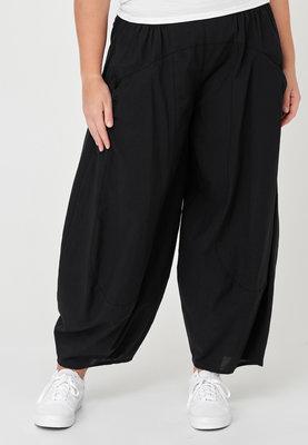 Ballonbroek, Kekoo, zwart, elastische taille, 100% katoen.