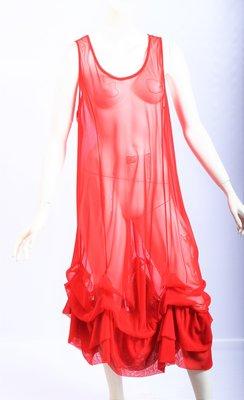 ,,Petticoat Jurk,rood , soepel stof, met ophaaltjes, Moonshine