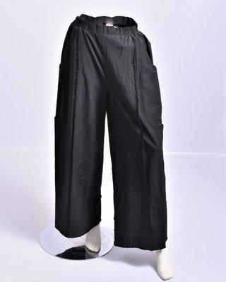 Broek, Kekoo, zwart, washed out, rekbare taille,