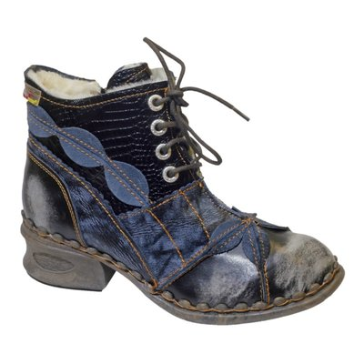 Leuke halfhoge schoen, zwart met veter