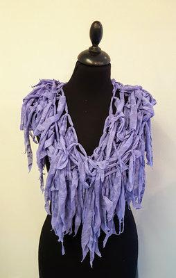 Myrjo Prachtige ketting met lila sliertjes