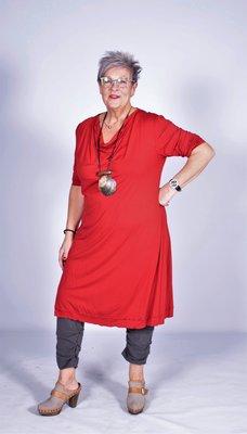 Exelle jurk paprika.