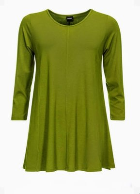 Alive green Basis-shirt A-lijn 3/4 mouw