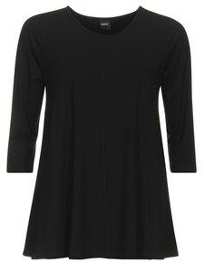 Zwart Basis-shirt A-lijn 3/4 mouw