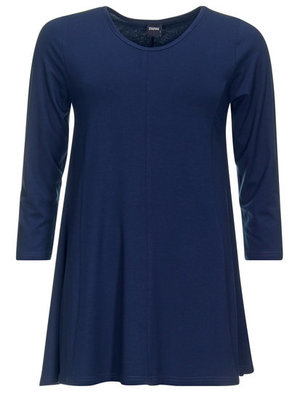 Dark navy Basis-shirt A-lijn 3/4 mouw