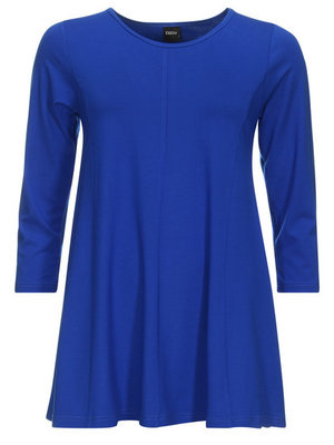 kobalt(royalblue) -shirt A-lijn 3/4 mouw