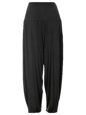 Super comfortabele zwarte broek met hoge rekbare taille