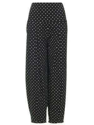 Stippel zwart Super comfortabele broek met hoge rekbare taille