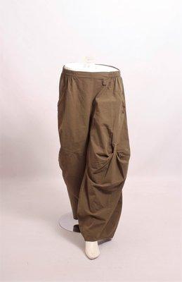 .Kekoo exclusive groene broek, steekzakken, elastische taille en ballonmodel met lussen op voor en achterpand