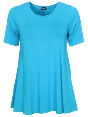 Aqua Basis-shirt A-lijn korte mouw