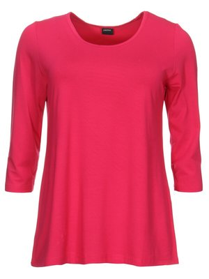 Basis-shirt amy fuchsia A-lijn ,driekwart mouw .