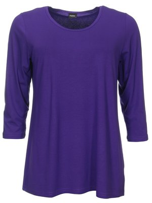 Basis-shirt Amy purple A-lijn ,driekwart mouw .