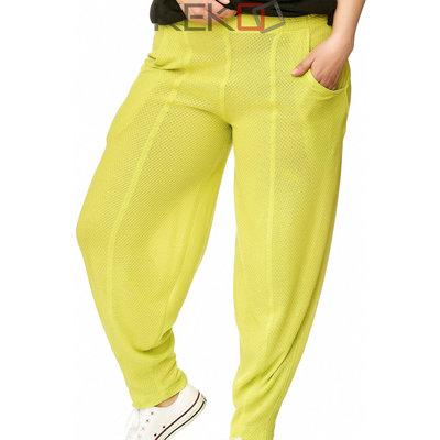 Broek Kekoo lime groen, elastische taille/broek/ steekzakken
