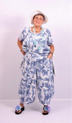 Ballonbroek Myrjo, 7/8 ruime broek, grote zakken op been, rekbare taille,tie&day