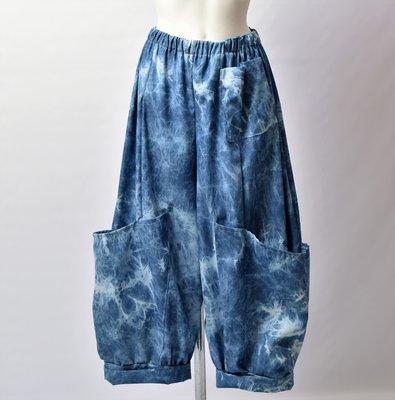 Ballonbroek Myrjo, 7/8 ruime broek, grote zakken op been, rekbare taille,jeanslook