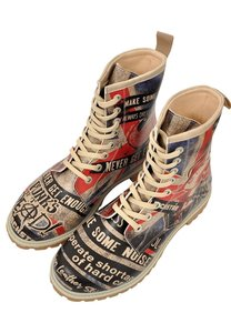 British Punk Long Boots
