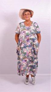 Jurk, Myrjo Leuke stoere aparte jurk met print,plooien ,super model