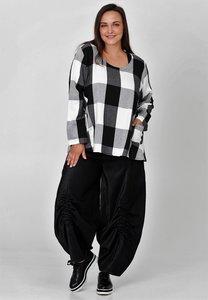 Ballonbroek, Kekoo, zwart, elastische taille met plooitjes op de knie