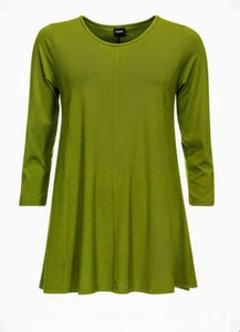 Alive green Basis-shirt A-lijn 3/4 mouw