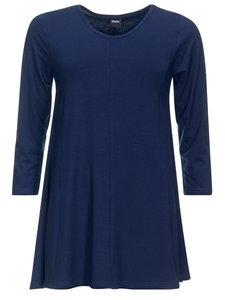 Dark navy Basis-shirt A-lijn 3/4 mouw