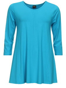Aqua Basis-shirt A-lijn 3/4 mouw