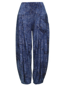 Super comfortabele broek met hoge rekbare taille jeans print