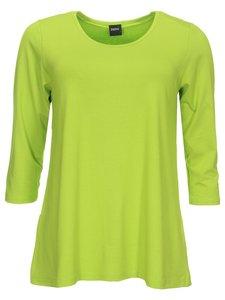 2b401d99aa4 Basis-shirt Amy lime A-lijn ,driekwart mouw .