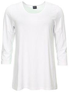 Basis-shirt Amy wit A-lijn ,driekwart mouw .