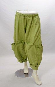 Ballonbroek Myrjo lime groen,  Eluna 7/8 ruime broek, grote zakken op been, rekbare taille